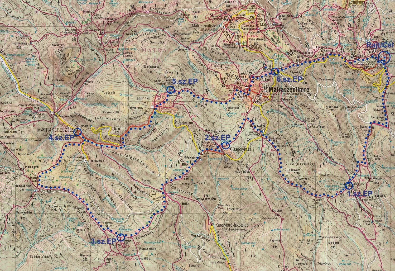mátra térkép Őszi Mátra 30 | TTT mátra térkép